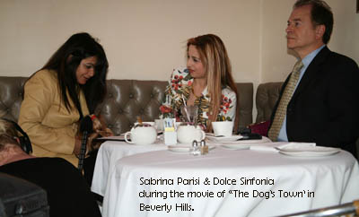 During the movie in Beverly Hills. Sabrina Parisi, Tania Amaral and ...